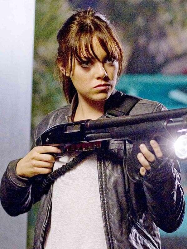Emma Stone Zombieland Wichita Black Jacket