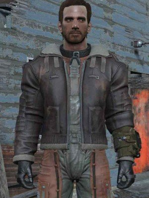 Fallout 4 Armor Brown Leather Jacket