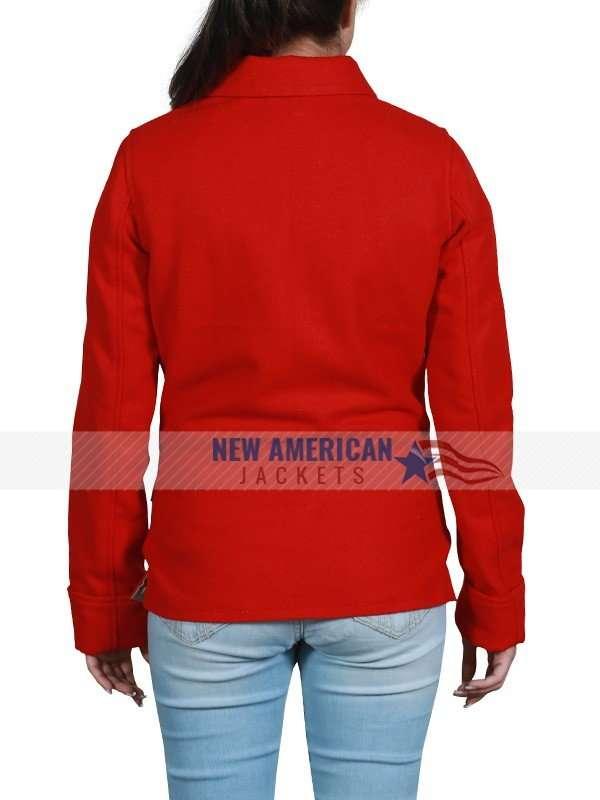 Fauna Hodel Red Fleece Jacket