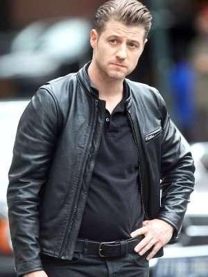 Gotham Ben McKenzie Black Leather Jacket