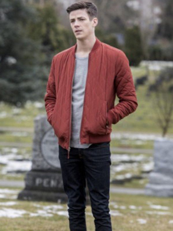 Grant Gustin The Flash Quilted Jacket