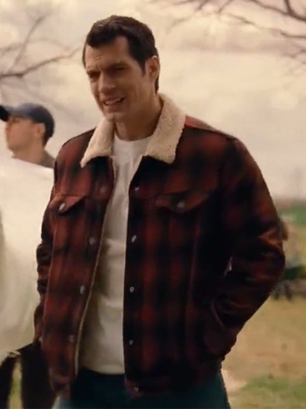 Henry Cavil Checked Jacket from Justice League