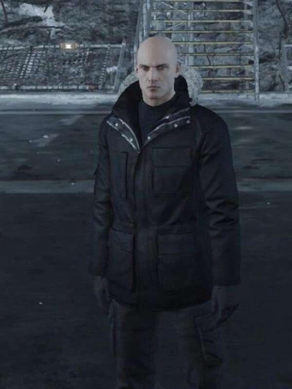 Hitman Agent 47 Black Shearling Jacket