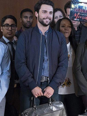 Connor Walsh How to Get Away with Murder Checked Bomber Jacket