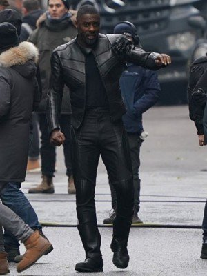Hobbs & Shaw Idris Elba Black Leather Jacket
