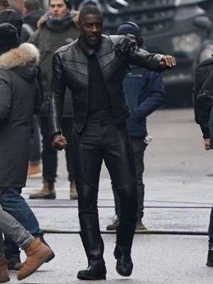 Hobbs & Shaw Idris Elba Black Leather Jacket
