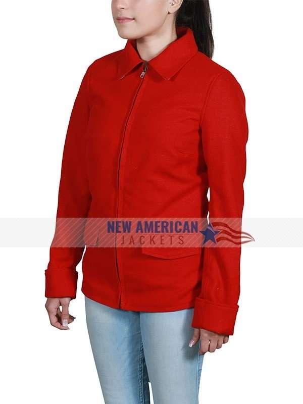 India Eisley I am the Night Red Jacket