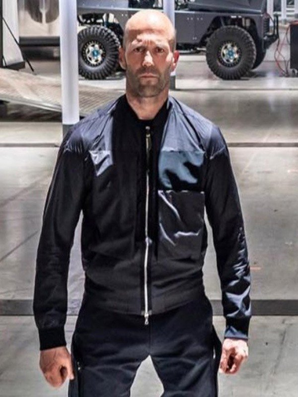 Jason Statham Black Cotton Jacket from Hobbs & Shaw