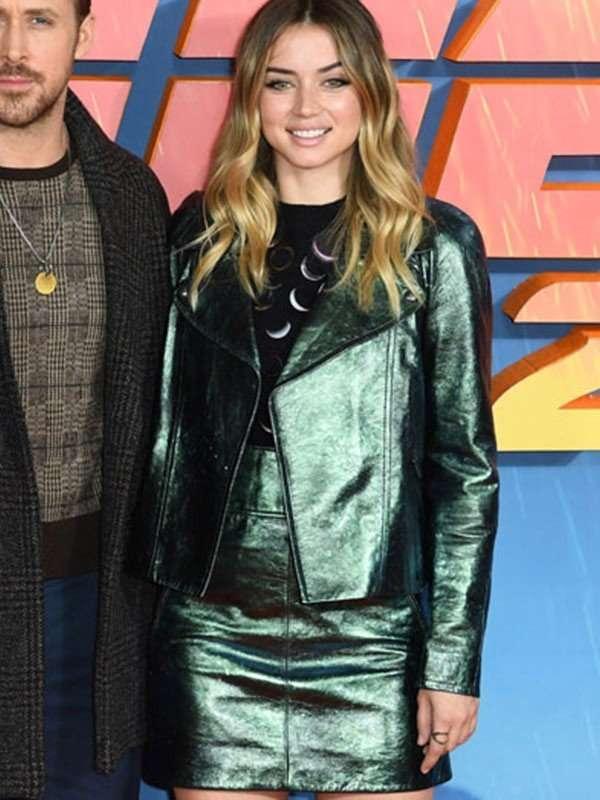 Joi Blade Runner 2049 Metallic Green Leather Jacket