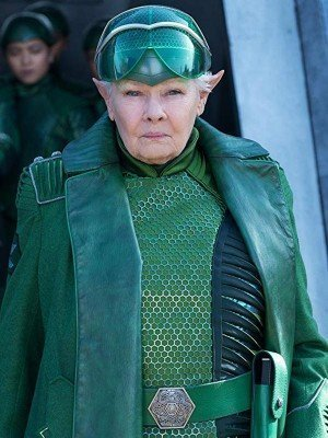 Artemis Fowl Judi Dench Green Leather Jacket Coat