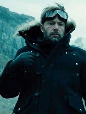 Bruce Wayne Justice League Black Wool Parka Jacket