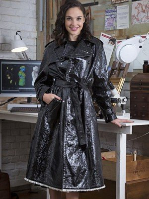 Gal Gadot Justice League Washed Leather Coat