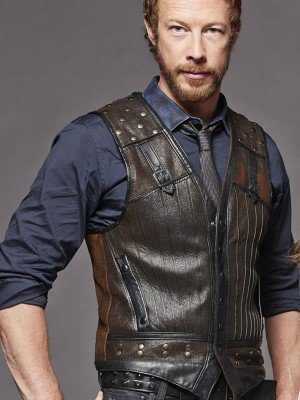 Lost Girl Kris Holden Ried Brown Leather Vest