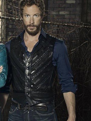 Dyson Lost Girl Kris Holden Ried Black Leather Vest