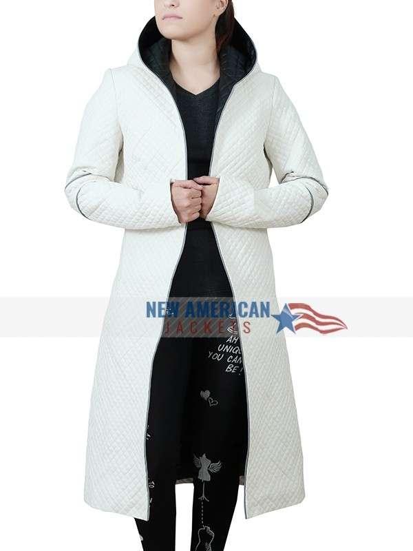 Luv Blade Runner 2049 Sylvia Hoeks White Hooded Coat