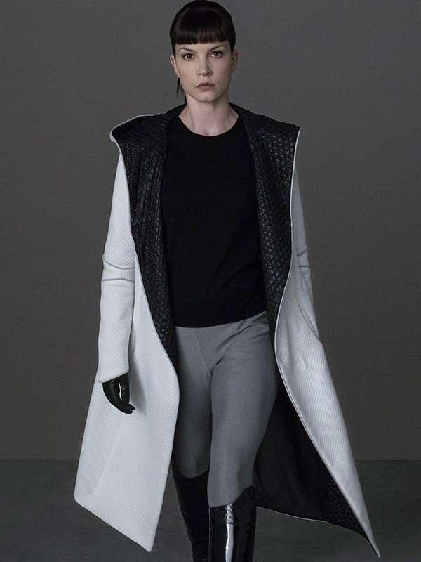 Luv Blade Runner 2049 Sylvia Hoeks White Hooded Jacket