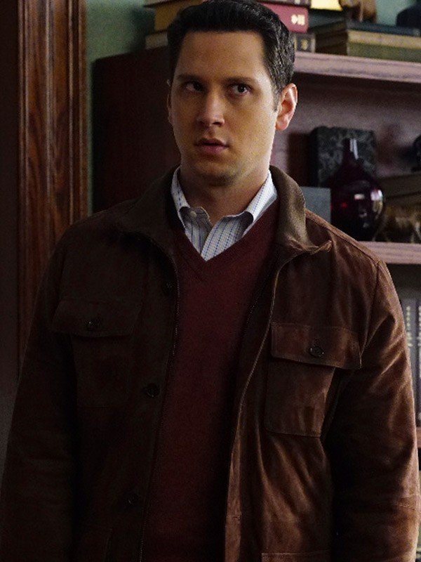 Matt McGorry How to Get Away with Murder Brown Leather Jacket