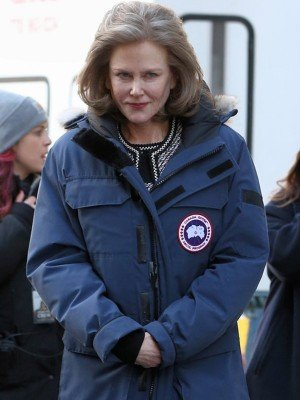 The Goldfinch Nicole Kidman Blue Nylon Parka Coat
