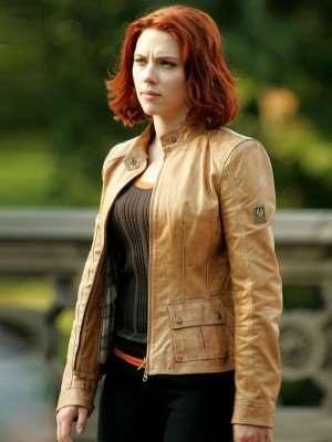 Black Widow The Avengers Leather Jacket