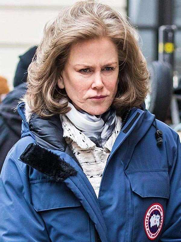 Nicole Kidman Blue Parka Coat