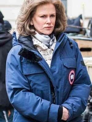 Mrs Barbour The Goldfinch Blue Parka Coat
