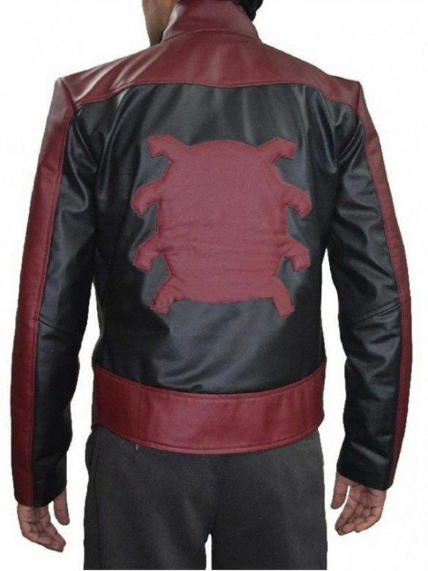 Peter Parker Red and Black Leather Jacket