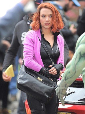 Scarlett Johansson Pink Fleece Jacket