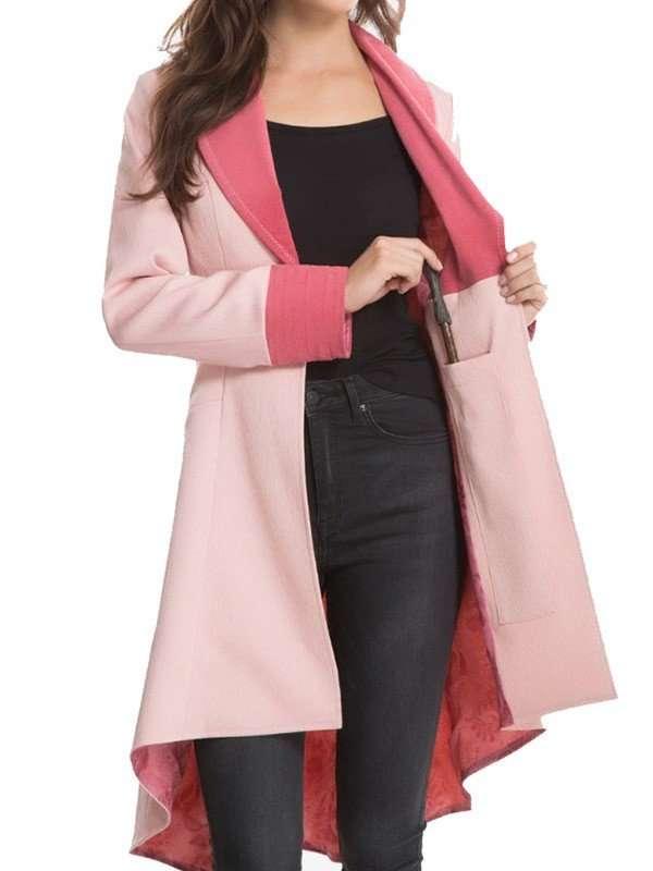 Queenie Pink Coat