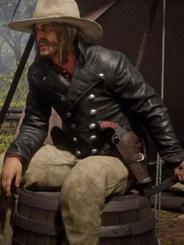 Red Dead Redemption ll Micah Bell Leather Tail Coat