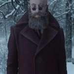 Richard E. Grant Purple Coat