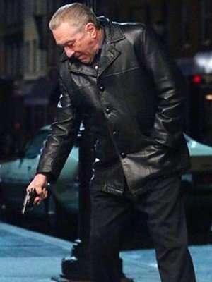 Frank Sheeran The Irishman Black Leather Jacket