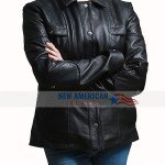 Rosa Salazar Black Leather Jacket