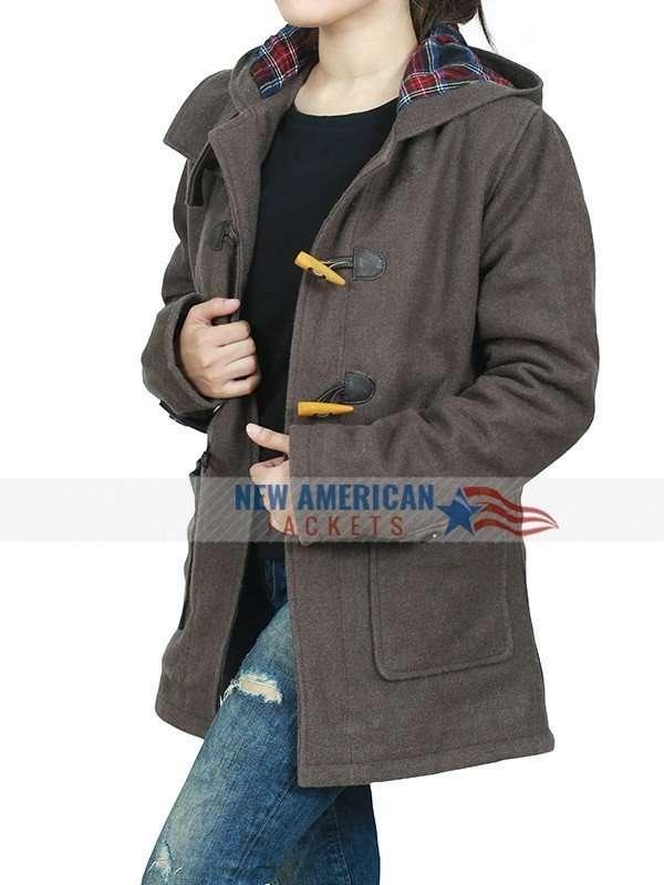 Sabrina Spellman Brown Hooded Coat