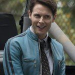 Samuel Barnett Dirk Gently's Holistic Detective Agency Blue Leather Jacket