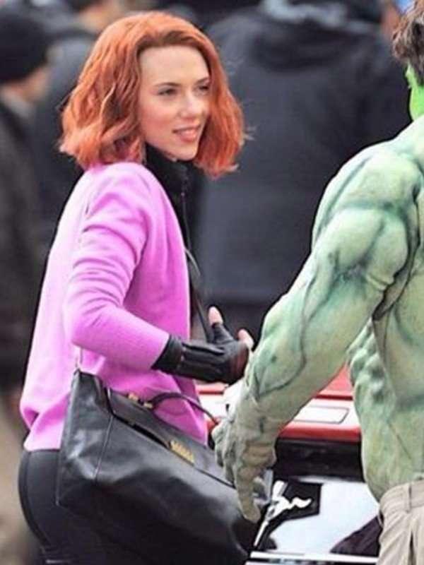 Scarlett Johansson Pink Jacket for Women