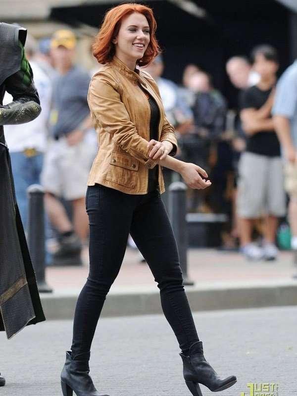Scarlett Johansson The Avengers Black Widow Jacket