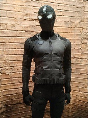Peter Parker Spider Man Far From Home Black Leather Jacket