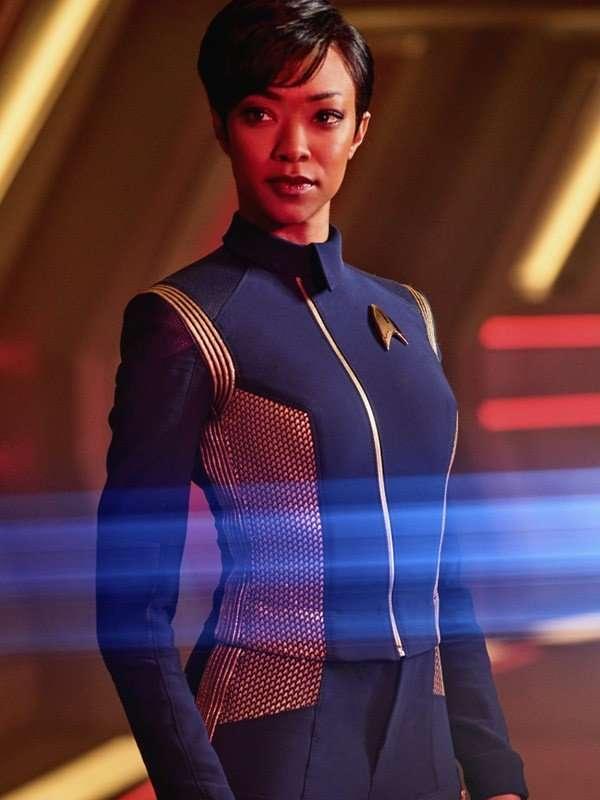 Star Trek Discovery Michael Burnham Blue Leather Jacket