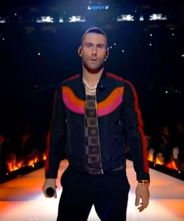 Super Bowl halfitime Show 2019 Adam Levine Black Jacket