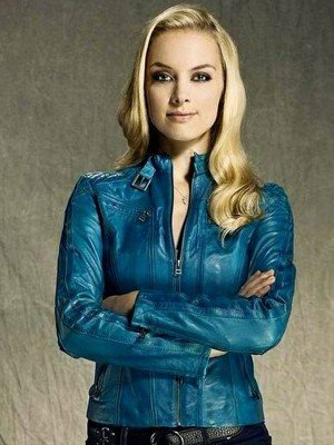 Rachel Skarsten Lost Girl Blue Leather Jacket