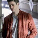 The Flash Barry Allen Red Quilted Bomber Jacket