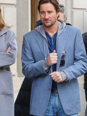 Luke Wilson The Goldfinch Blue Cotton Blazer