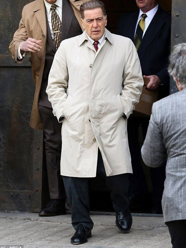 The Irishman Jimmy Hoffa White Cotton Coat