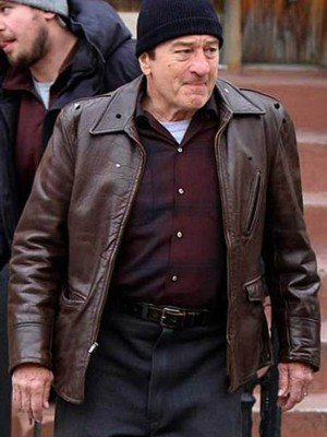 Frank Sheeran The Irishman Brown Leather Jacket