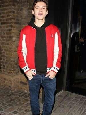 Tom Holland Red Fleece Jacket