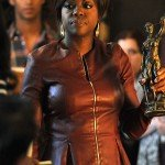 Viola Davis How to Get Away with Murder Maroon Leather Jacket