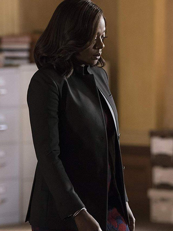 Viola Davis Wool Coat from How to Get Away with Murder