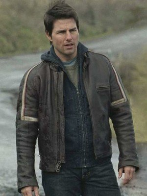 Tom Cruise War of Worlds Brown Leather Jacket