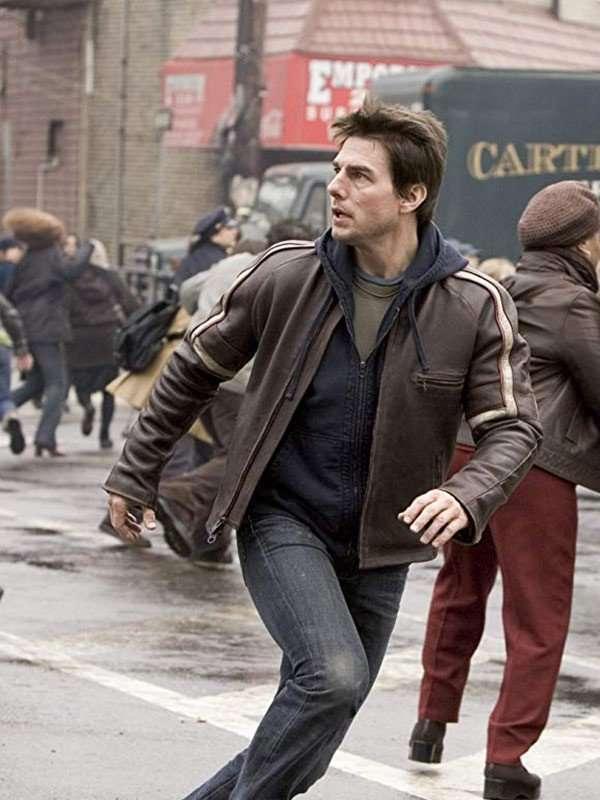 War of Worlds Tom Cruise Brown Jacket
