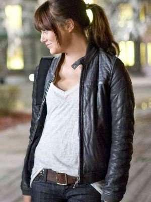 Zombieland Emma Stone Black Leather Jacket